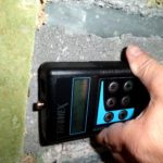 Fugt måling på kældervæg (2)