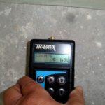 Fugt måling på kældervæg (3)
