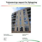 Trykprøvning tæthedstest af bolig a2